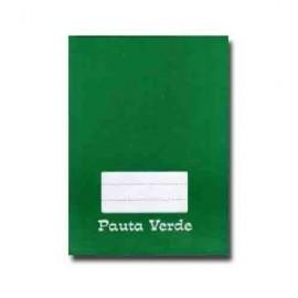 CADERNO PAUTA VERDE BROCHURA 1/4 PEDAGOGICO CAPA DURA REF 2101
