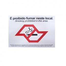 PLACA SINALIZACAO 14,5X19,5 CM PROIBIDO FUMAR