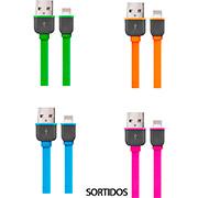 CABO USB PARA IPHONE 5 E SUPERIORES WI299 SORTIDO