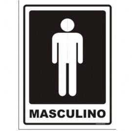 PLACA SINALIZACAO 14,5X19,5 CM MASCULINO
