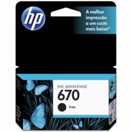 CARTUCHO HP 670 CZ113AB PRETO 7.5ML