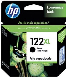 CARTUCHO HP 122XL CH563HB PRETO 8,5ML