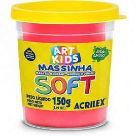 MASSA MODELAR 150 GRS VERMELHO REF 103 ACRILEX