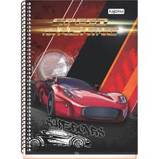 CADERNO UNIVERSITARIO 10X1 CAPA DURA 200FLS SPEED MACHINE