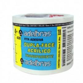 FITA ADESIVA DUPLA FACE 18X30 ADELBRAS