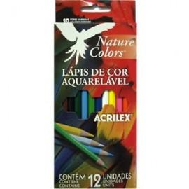 LAPIS COR 12C AQUARELA ACRILEX