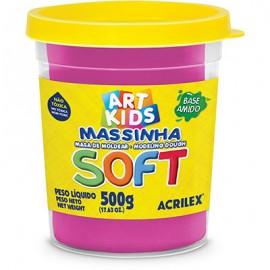 MASSA MODELAR 500 GRS ROSA MARAVILHA REF 107 ACRILEX