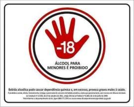PLACA SINALIZACAO 19,5X27,5 CM ALCOOL PROIBIDO PARA MENORES